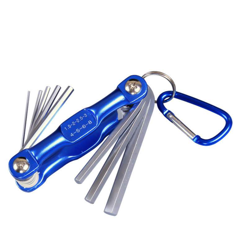 Portable Folding Key Hex Wrench Set Metric System Inner Hexagon Spanner Allen Wrench Screw Repair Tools