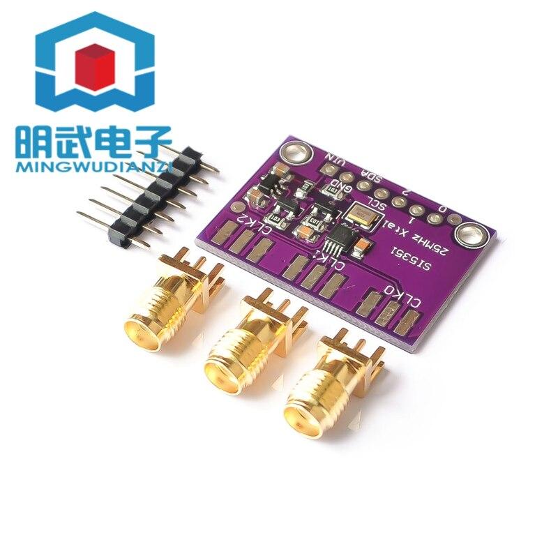 Настольная плата для генератора часов Si5351A Si5351 I2C, 3 в, 5 в постоянного тока, плата для выключения, генератор сигналов, разделитель PLL, 8 кГц-160 МГ...