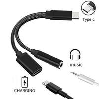 2 in 1 ricarica e lettore musicale Splitter USB-C tipo C a 3.5mm Audio Aux Jack per cuffie adattatore per cavo per smartphone