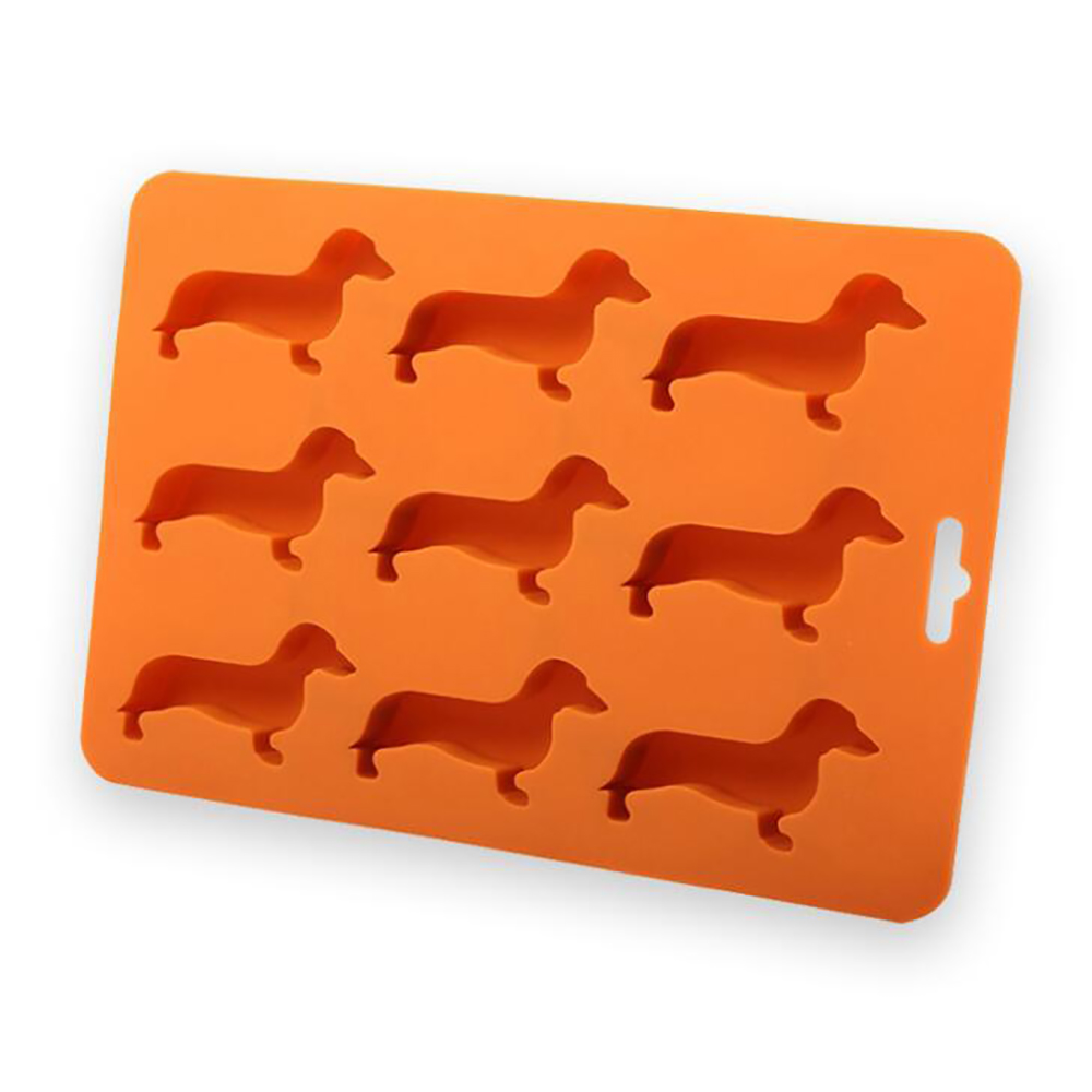 What On Earth Chocolate Mould Dachshund Ice Cube Tray - BPA-Free Silicone Weiner Dog Shaped Molds Silicone Ice Lattice