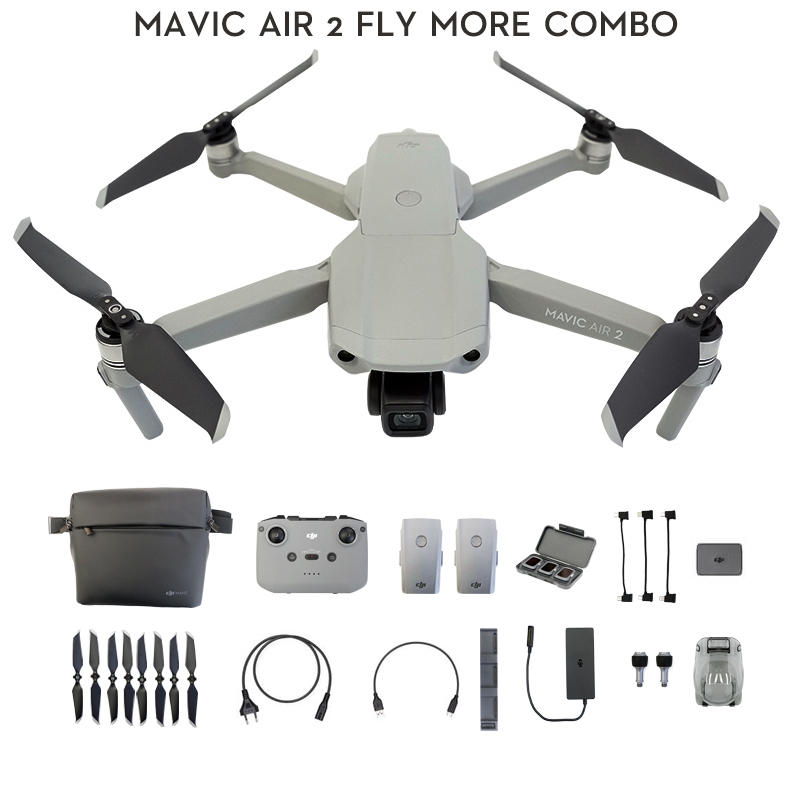 Dji mavic ar 2/mavic ar 2 voar mais combinado zangão com câmera 4k 34-min tempo de vôo 10km 1080p transmissão de vídeo mais novo