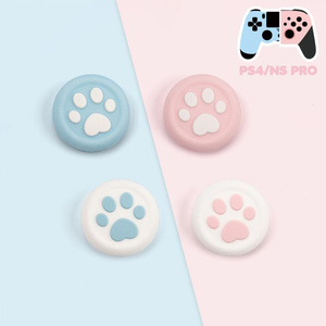 Image 3 - New Cat Paw Sakura Thumb Stick Grip Cap Joystick Cover For Sony Playstation Dualshock 4/3 PS4/PS3/Xbox 360/Switch Pro Controller