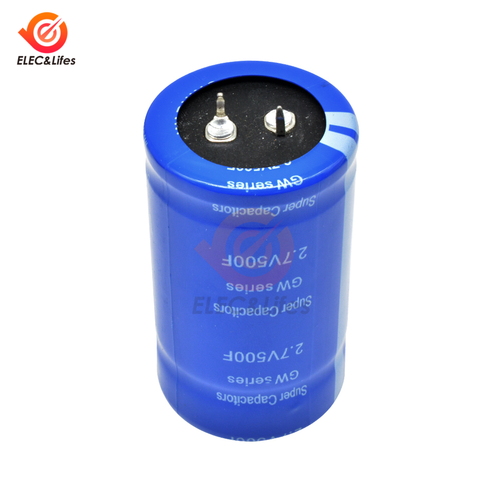 2.7V 500F High Frequency Low ESR Super Farad Capacitor 500f 2.7v 60*35mm Car Electric Vehicle Energy Rectifier Ultracapacitor