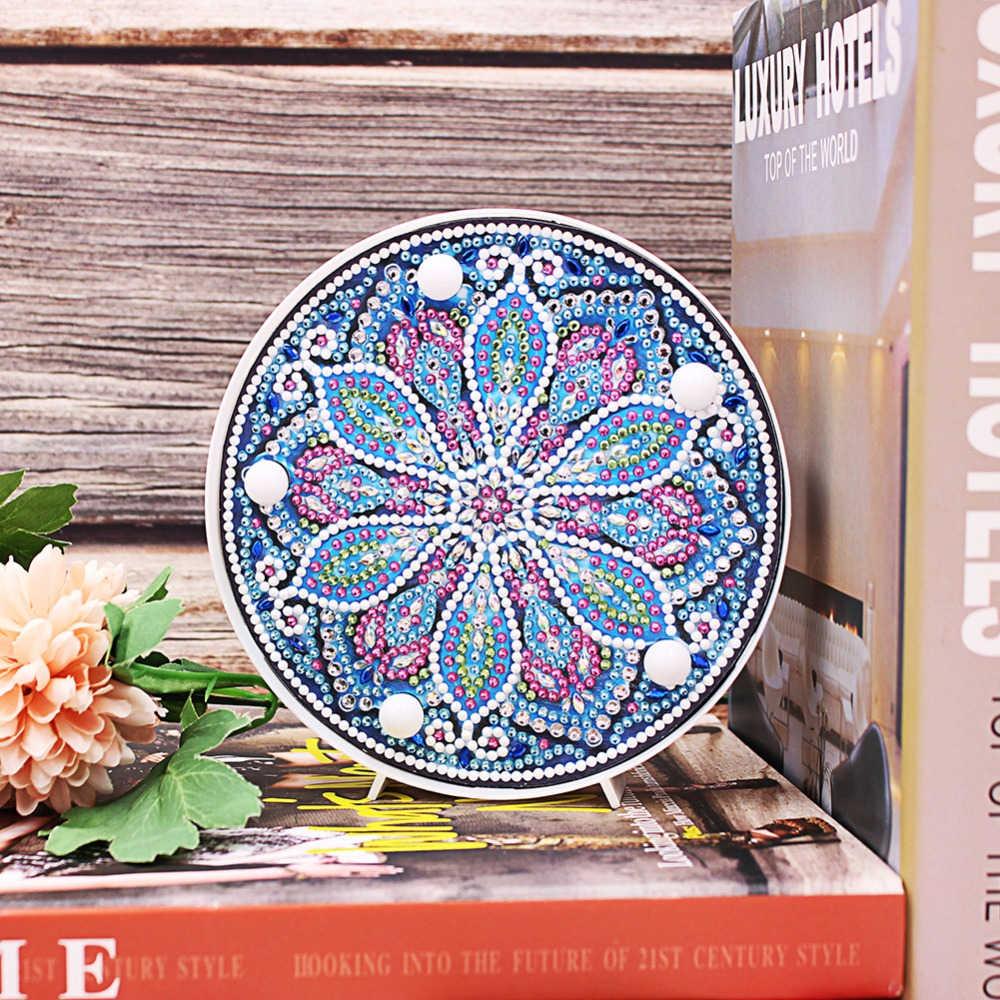 Huacan 5D алмазная картина светодиодный светильник лампа специальная форма вышивка мозаикой из стразов Сова «сделай сам» незавершенный комплект Рождественский Прямая поставка