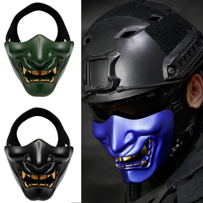 Jogos de Campo Airsoft Paintball Máscaras Máscara Caça Militar Tático Tiro Meia Face Protetora Cosplay Halloween Party cs