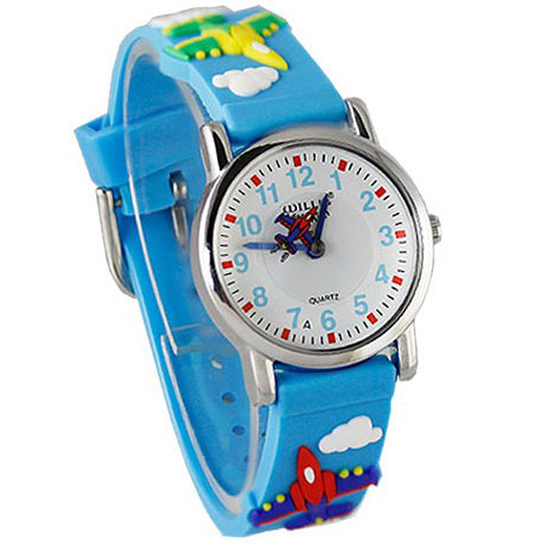 Waterproof Cute Children\'S Cartoon Gift Watch Creative Small Plane Student Watch