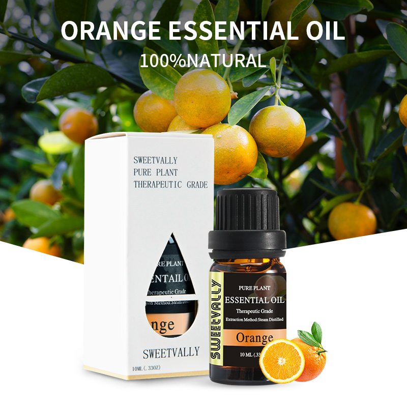 10ml Orange Essential Oil For Aromatherapy Diffusers Pure Essential Oils Relieve Stress For Air Freshening Humidifier Oil