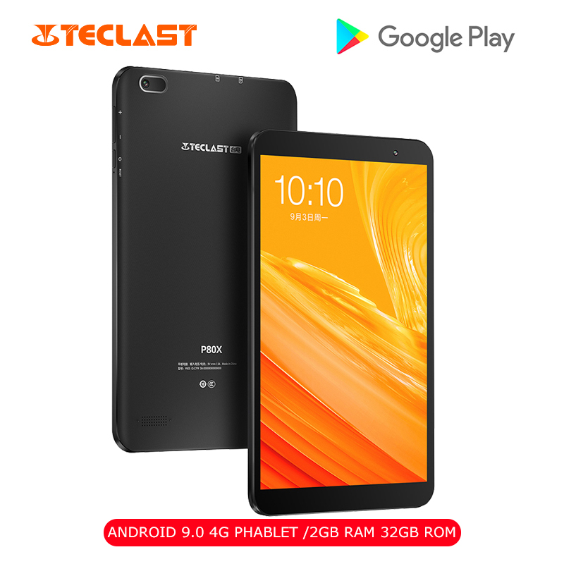Teclast P80X 8.0 Inch 4G Phone Call Teclast PC Android 9.0 Spreadtrum SC9863A 1.6GHz Octa Core CPU 2GB RAM 16GB ROM 2.0MP Camera