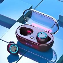 купить Touch Control Bluetooth Earphone Wireless Binaural HD Call Headset In-ear TWS Handsfree Stereo Sport Gaming Headphone with  Mic дешево