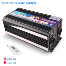 3000W/6000W Power Inverter DC12V AC 220V 230V 240V Modified Sine Waveรีโมทคอนโทรลไร้สายEU UK AU Universal Socket