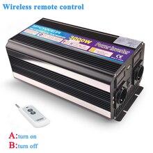 Convertisseur de puissance 3000W/6000W DC12V à ca 220V 230V 240V onde sinusoïdale modifiée avec télécommande sans fil prise universelle ue UK AU
