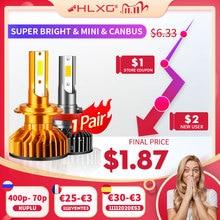 HLXG bombilla LED Canbus para faro delantero de coche, lámpara de 10000LM, 4300K, 6000K, 8000K, H1, 9005, HB3, 9006, HB4, H8, H9, H11