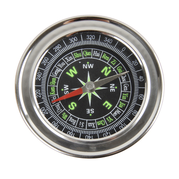 New Metal Stainless Steel Large Compass Portable Small Travel For Compass Navigation Climbing Camping Survival Equipment image