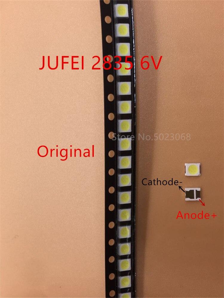 200pcs Original JUFEI SMD LED Lamp Beads 2835 3528 6V Cold White For TV Backlight Application Lamp Beads Lens LCD Backlight Led