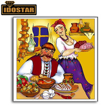 Diamond Mosaic Portrait Couple In the kitchen Full 5D Diamond Painting Picture Of Rhinestone Embroidery Home Decor Wall Sticker(China)