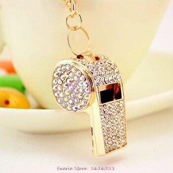 Juego de regalo pequeño creativo coreano con llavero silbato bolsa decoración para llaves silbato de cadena llavero de Metal colgante
