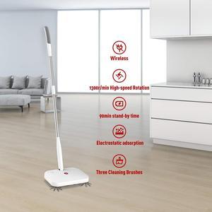 Image 5 - الأرضيات الصلبة 360 الكهربائية مكنسة لاسلكية قابلة للشحن مع فرش الدورية ، مكنسة تنظيف الغبار مرنة مع 30 قطعة الجافة