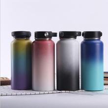 Stainless Steel Water Bottle Hydro Flask Water Bottle Vacuum Insulated Wide Mouth Travel Portable Thermal Bottle 32oz/40oz