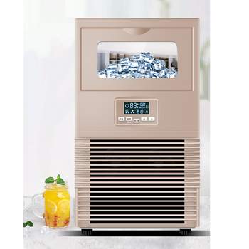 40kg commercial milk tea shop, small and large bar, automatic cube ice making machine ice making machine commercial milk tea shop ice making machine household small student dormitory mini automatic ice making