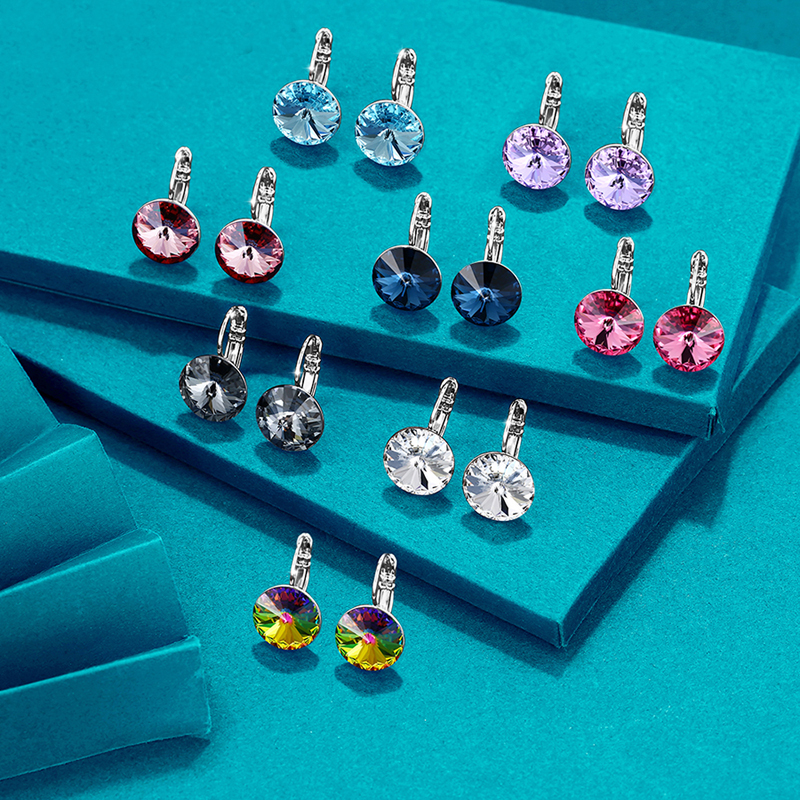 11.11 Round Small Stud Earrings For Women Party Bijoux Accessories New Fashion Sliver Color Earings Wedding Jewelry Girl Gift