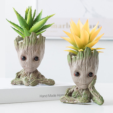 Get more info on the Creative Household Ornaments Resin Groot Flowerpots Plants Holder Pen Holder Decor Craft Baby Tree Miniature Model Birthday Gift