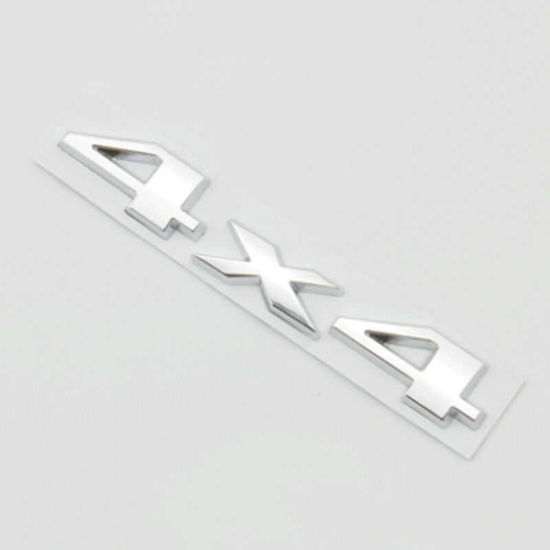 シルバー 4 × 4 車のエンブレムステッカー銘板バッジ 15*2.8 センチメートルダッジラム 1500 2500 3500