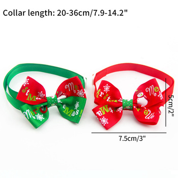 Christmas Adjustable Cat Dog Collar Holiday Cats Dog Bow Tie 6