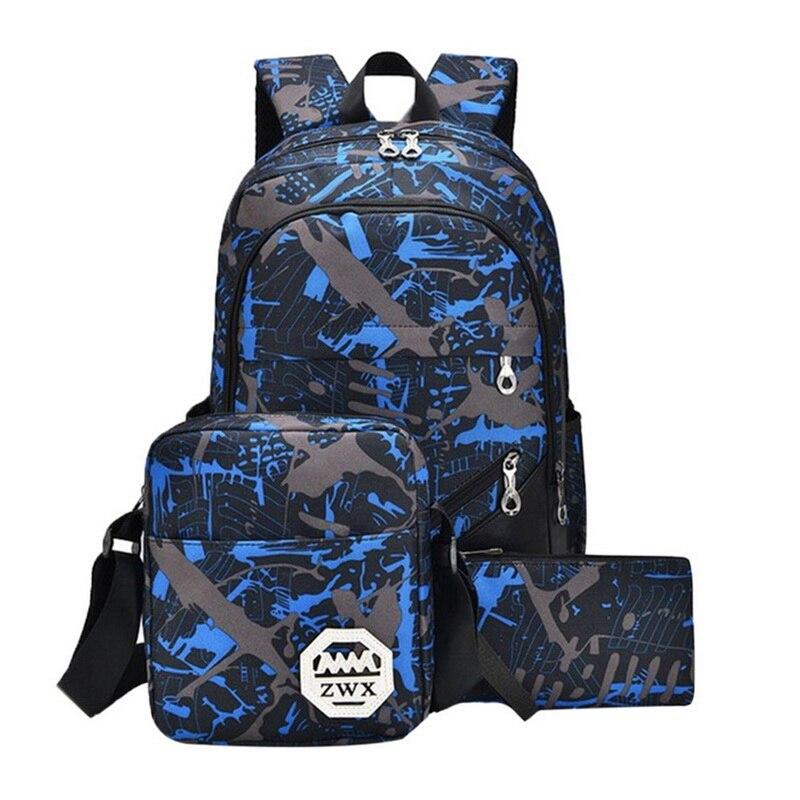 3 шт./компл. водонепроницаемый Оксфорд рюкзак для мальчиков и девочек школьные сумки для подростков синяя книга сумка мальчик Наплечная школьная сумка|Школьные ранцы| | АлиЭкспресс