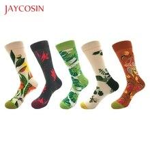 JAYCOSIN хлопковые цветные женские носки с мультяшными фруктами хипстерские Женские однотонные высокие носки с вышитым фламинго для девочек 830#2