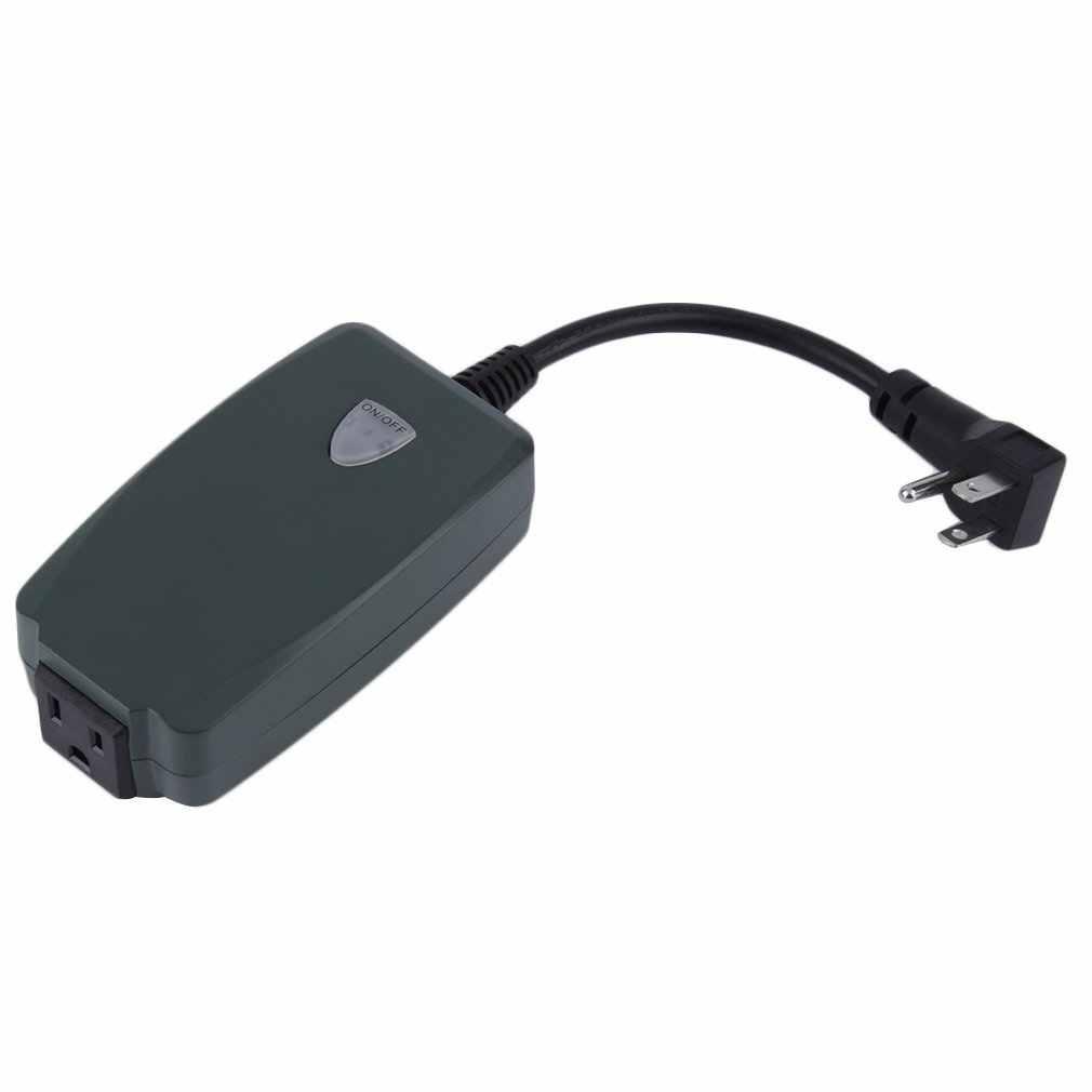 Nowy pilot Outlet bezprzewodowy włącznik światła na zewnątrz gniazdo US podłączyć wodoodporna wtyczka amerykańska [inteligentne elektronika] hurtownie