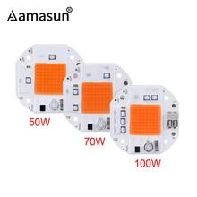 100 Вт 70 Вт 50 Вт сварочный светодиодный COB Чип для выращивания растений, тент 220 в 110 В светодиодный светильник для выращивания, полный спектр, светодиодный фито-лампа
