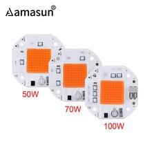 Luz LED com chip COB para plantas crescerem, chip para o crescimento das plantas, luz LED de crescimento 100W 70W 50W, lâmpada LED espectro completa phyto 220V 110V