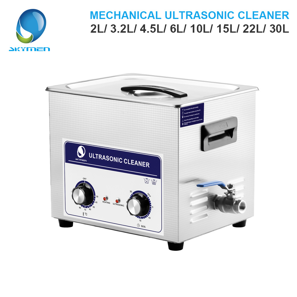 SKYMEN Mechanical Knob Ultrasonic Cleaner Bath 2L/3.2L/4.5L/6L/10L/15L/22L/30L Parts Cleaner Ultrasonic Cleaner