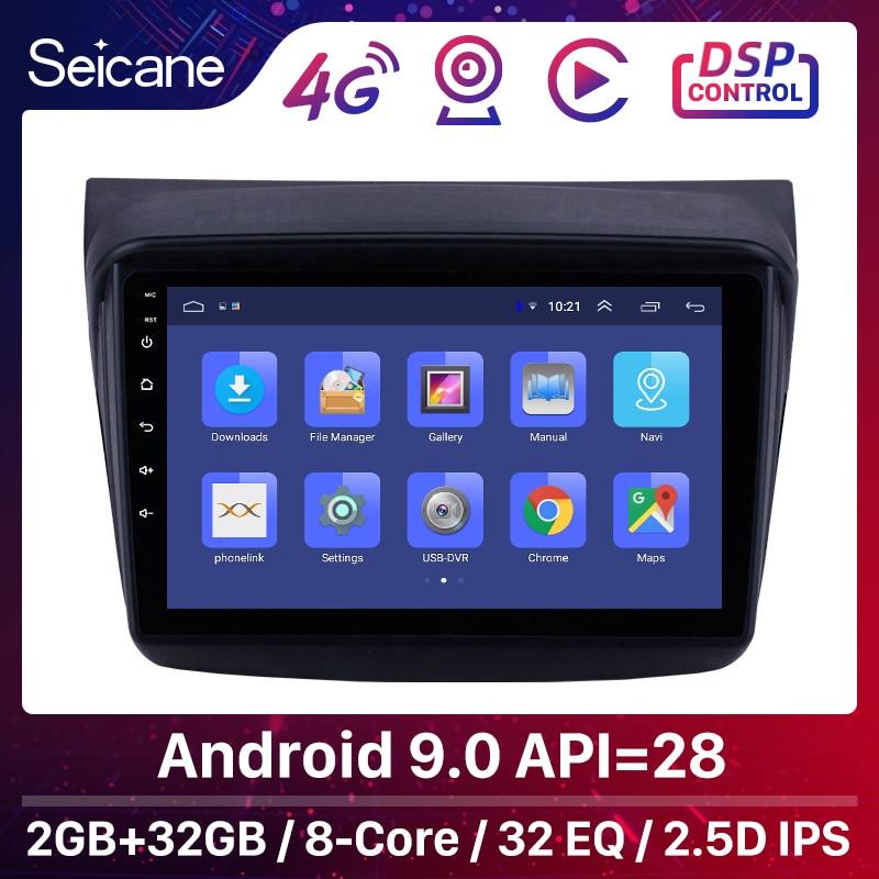 Seicane 9 Polegada 4-core android 8.1 2din carro multimídia player para mitsubishi pajero sport/l200/2006 + triton/2008 + pajero 2010