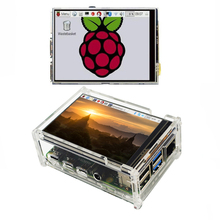 Écran tactile LCD 3.5 pouces pour framboise Pi 4 modèle B framboise Pi 3B + Pi 3 480x320 Pixels avec stylet + étui en acrylique