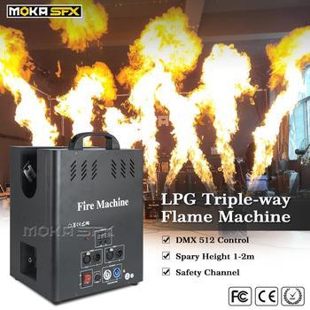 3 головки окрасочное оборудование пожарная машина DJ пламени прожектор dmx Управление спецэффектов профессиональный сценический свет для ве...