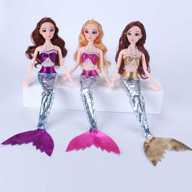 1Set muñeca Cosplay ropa Similar cuento de hadas sirena cola vestido de boda traje de sirena traje de fiesta