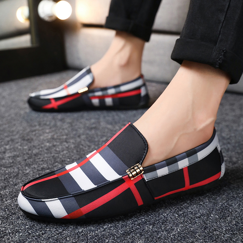 Men's Fashion Sneakers Men Loafers Shoes High Quality Trend Outdoor Men Leather Casual Shoes Trend Hot Sale Adult Driving Shoes