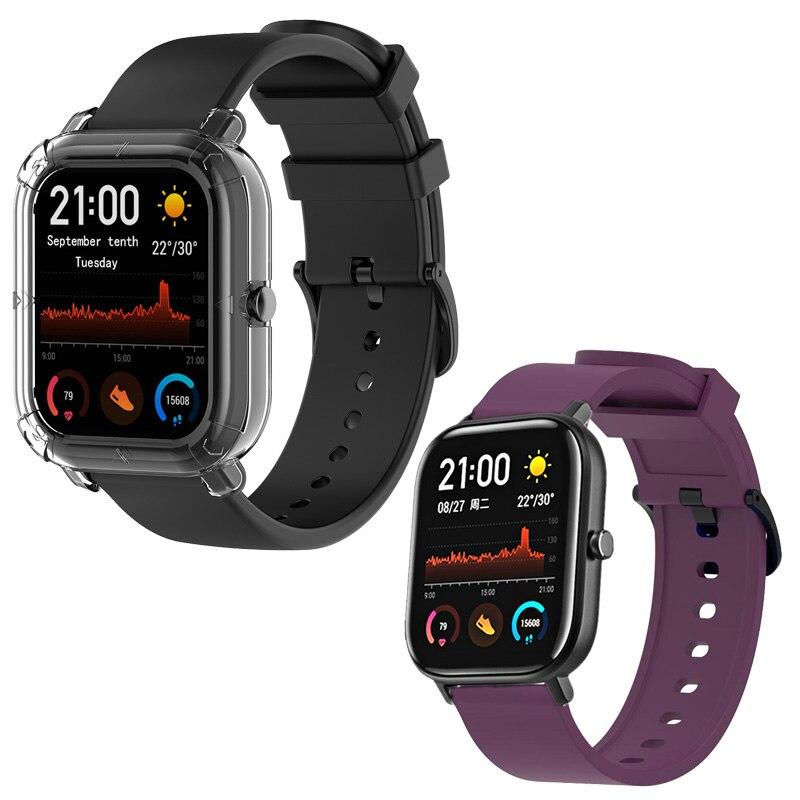 For Xiaomi Huami Amazfit GTS Bracelet Watch Strap Amazfit Bip Watchband Amazfit GTR 42mm Silicone Band 20mm Width
