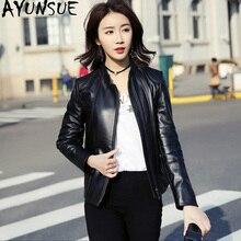 AYUNSUE 100% 진짜 양피 코트 봄 가을 재킷 여성 정품 가죽 재킷 폭탄 재킷 여성 의류 2020 MY3902