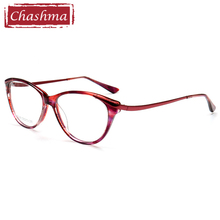 Chashma Elegant Cat Eye Prescription Glasses Frame Acetate Spectacle Frames Women Purple Colorful Eyewear Teens