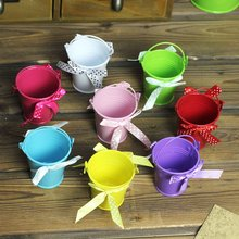Bow Tie Iron Flower Barrel Funny Floral Decoration Gifts Color Random