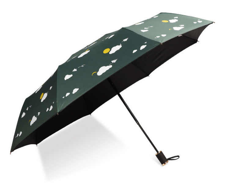 Travel Portable Men Umbrellas Wind Resistant and UV-proof 3Folding Ladies Small Three-fold Nine Plywood Sun Umbrella