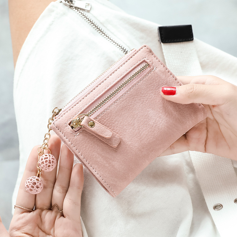 Women Wallets PU Leather Short Zipper Coin Purse Multi card Position Credit Card Holder Bifold Fashion Cute Female Clutch Bag