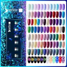 Beautilux Gel Nail Polish Kit Platinum Glitter Bling Gloss Holographic Mermaid Semi Permanent Nails Gels Lacquer Nail Varnish