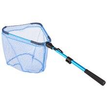 Aluminum Alloy 100cm Retractable Fishing Net Telescoping Foldable Landing Net Pole Folding Landing Net For Fly Fishing