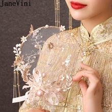 Janevini 2021 китайский стиль свадебный веер Свадебные букеты