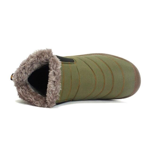 2019 Fashion Winter Men Boots Waterproof Comfortable Snow Boots Fur Warm winter Ankle Shoes Men Footwear Male Lightweight 4