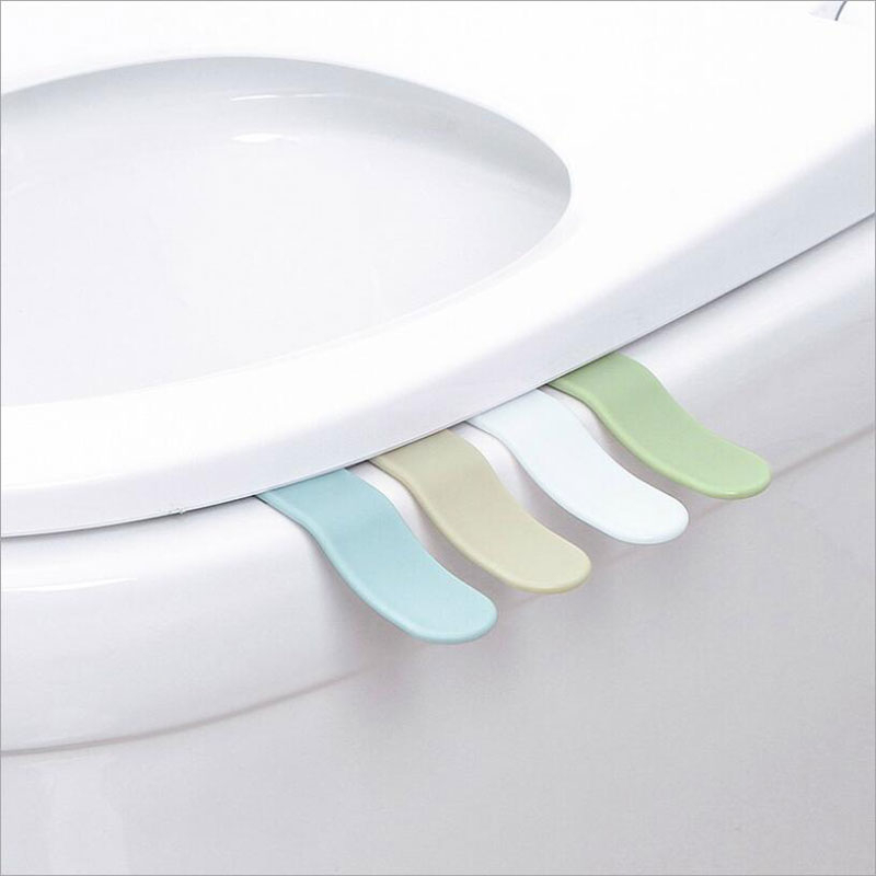 4Pcs/lot Portable Household Small Toilet Seat Cover Lifter Sanitary Closestool Seat Cover Lift Handle Bathroom Accessories