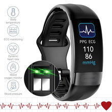P11 plus ecg + ppg pulseira inteligente pressão arterial monitor de freqüência cardíaca banda rastreador de fitness pedômetro à prova dwaterproof água esporte smartband